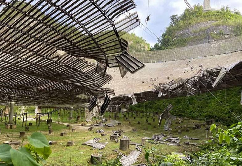 Gigantyczny teleskop w Puerto Rico uległ zniszczeniu. Na świecie nie ma większego
