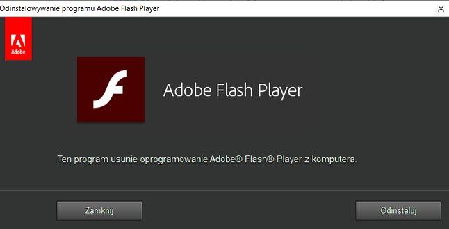 Prosty program pomaga usunąć Flash Playera z komputera, fot. Oskar Ziomek.