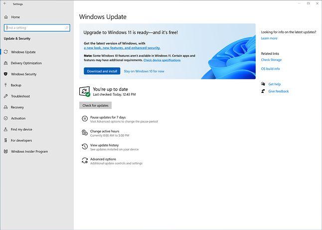Zachęta do instalacji Windows 11 w Windows Update