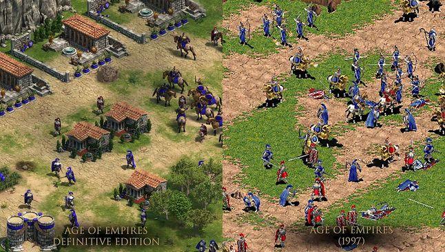 Age of Empires w wersji Definitive Edition (2018) i oryginalnej (1997)