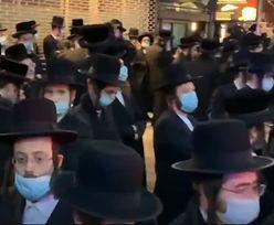 Koronawirus. Żydzi tłumnie przyszli na pogrzeb. Interwencja policji