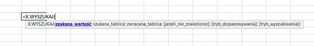 Nowa funkcja X.Wyszukaj w Excelu.