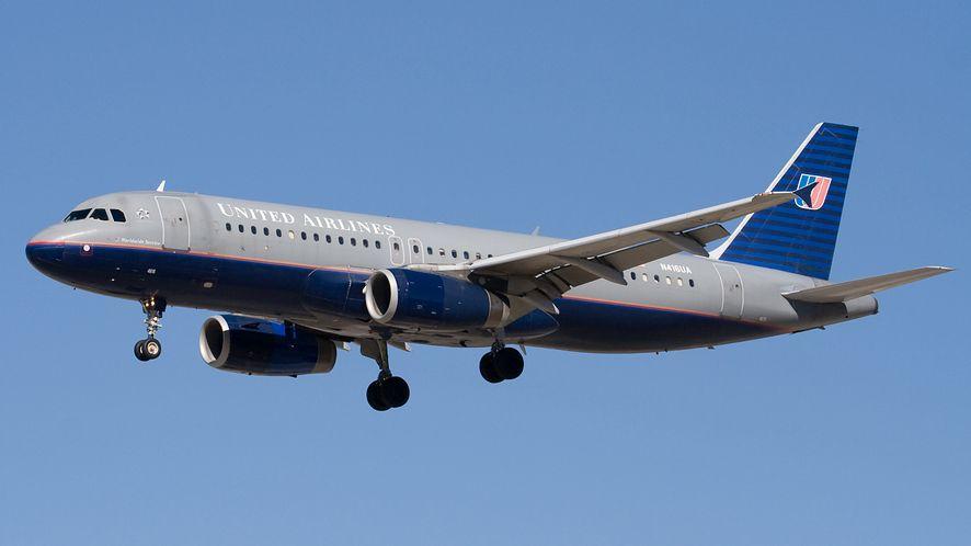 Airbus A320 w malowaniu linii United, podobny do tego, który wziął udział w zajściu, fot. CC-BY