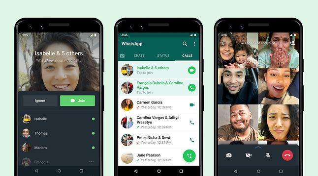 Odświeżone funkcje rozmów grupowych w WhatsApp