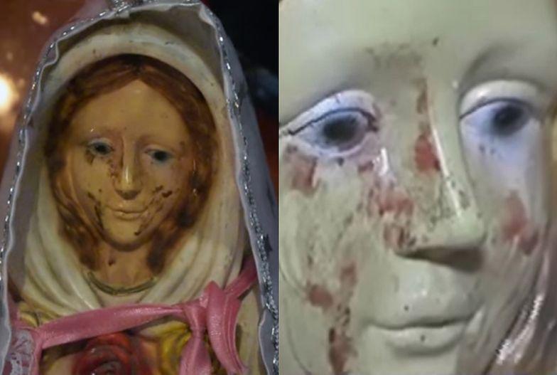 Figura Matki Boskiej płacze krwawymi łzami