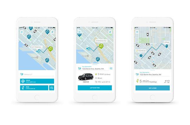 Planowanie podróży z aplikacją ReachNow, źródło: TechCrunch.