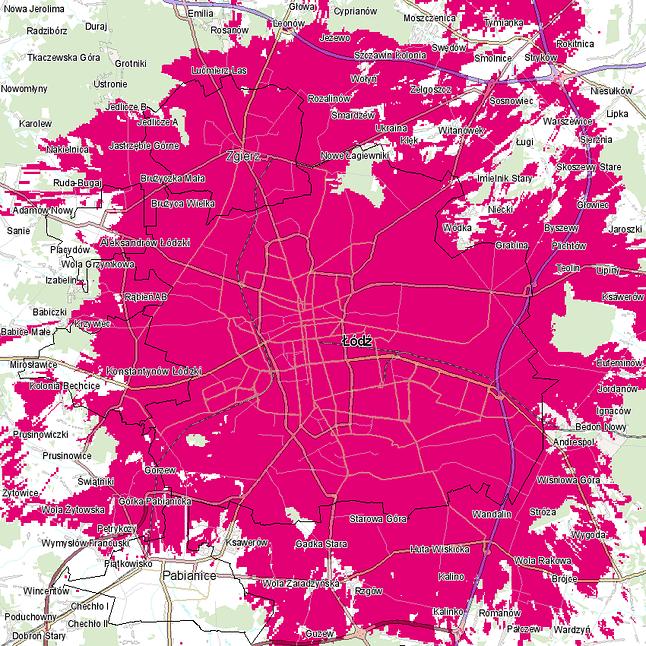 Mapy zasięgu 5G w T-Mobile