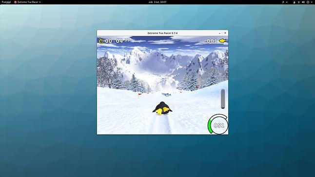 Lepiej niż w Qubes OS-ie: można sobie pograć w TuxRacera i inne gry 3D