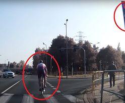 Wideo z Katowic. Wstyd dla wszystkich polskich rowerzystów