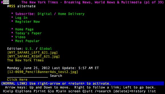 Tekstowa przeglądarka www Lynx