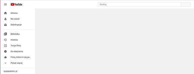 YouTube ma problem z ładowaniem zawartości strony, fot. Oskar Ziomek.