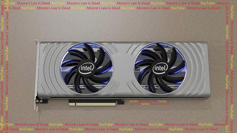 Nowe karty Intel ARC z serii Alchemist. Render karty pokazany
