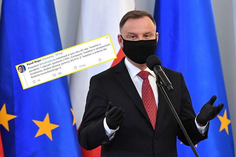 O czym tweetuje Andrzej Duda w czasie pandemii? Koronawirusowi poświęcił 1 post