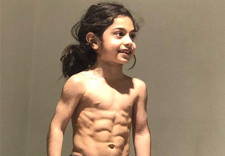 6-letni Arat Hosseini może pochwalić się wyjątkową sylwetką
