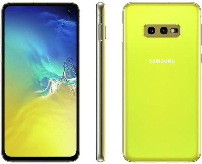 Samsung Galaxy S10e – jedyny model w serii dostępny w żółtym kolorze. Źródło: materiały prasowe.