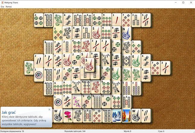 Wśród gier można znaleźć Mahjonga, fot. Oskar Ziomek.