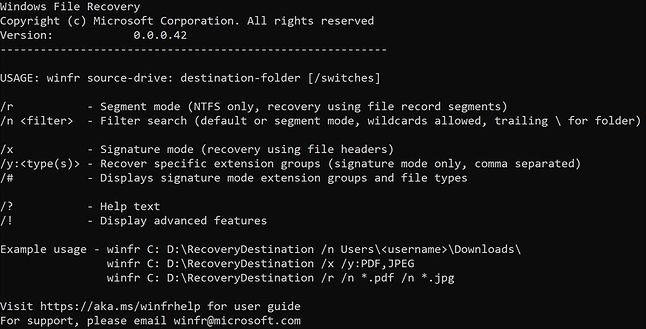 Windows File Recovery, fot. Microsoft