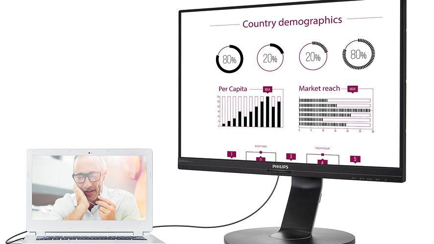 Philips na ISE 2018. Monitory z USB-C i wąskie ramki dla każdego