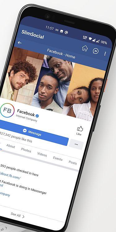 """Aplikacja SlimSocial zapewnia bardzo podstawowy dostęp do Facebooka, bez wodotrysków, ważąc tylko 200kb. Czasem trzeba jednak poczekać na aktualizację gdy FB coś """"zepsuje""""."""