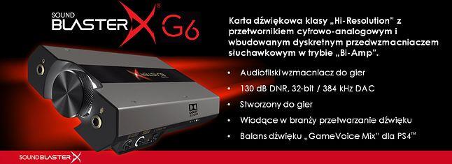 Cechy Creative Sound BlasterX G6, fot. materiały prasowe.