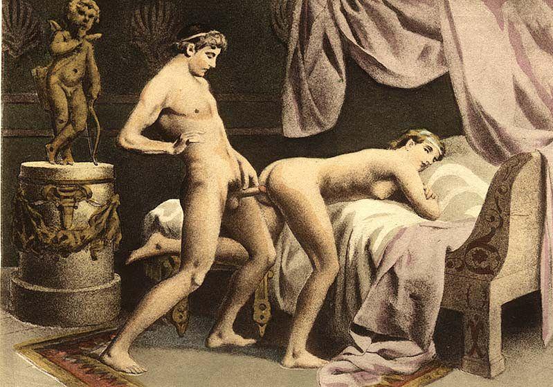 Obraz przedstawiający parę w czasie seksu analnego
