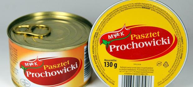 Pasztet Prochowicki z logo nowego właściciela.