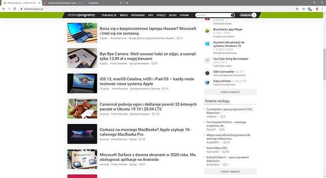 CCleaner Browser – pozornie taka sama, jak większość przeglądarek bazujących na Chromium.