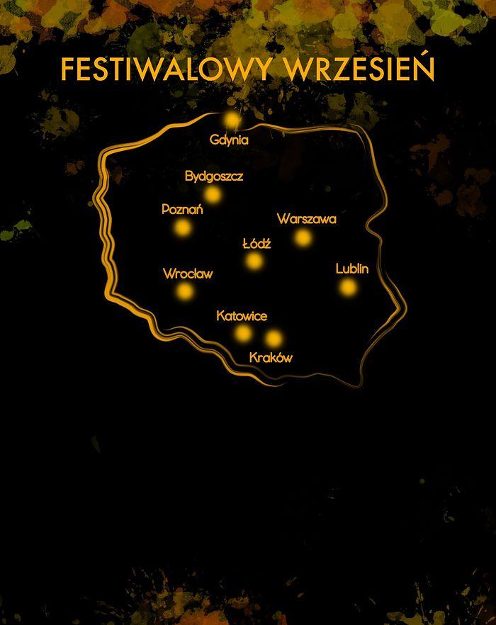 mapa festiwali we wrześniu