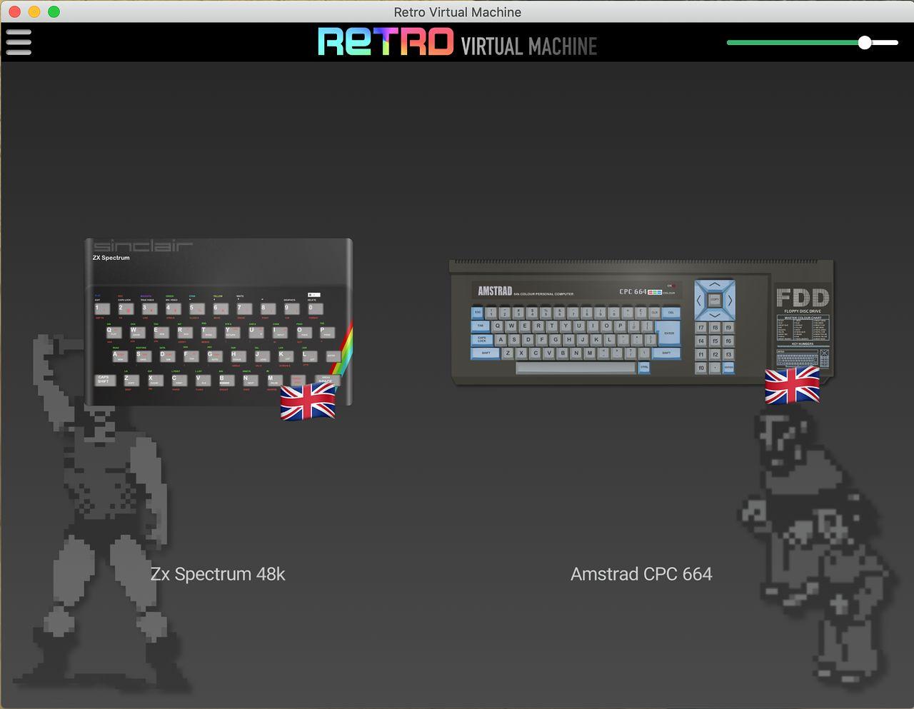 Retro Virtual Machine — emulator klimatu ZX Spectrum