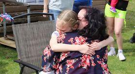Dziewczynka zapamięta na długo swoje urodziny. Otrzymała najwspanialszy prezent, jaki mogła sobie wymarzyć