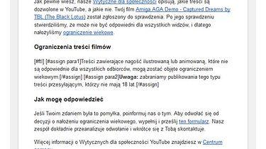Szanowne YouTube - to nie tak!