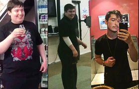 Schudł 55 kilogramów. Myślał, że przeszedł operację zmniejszenia żołądka i zrezygnował z ulubionych przysmaków