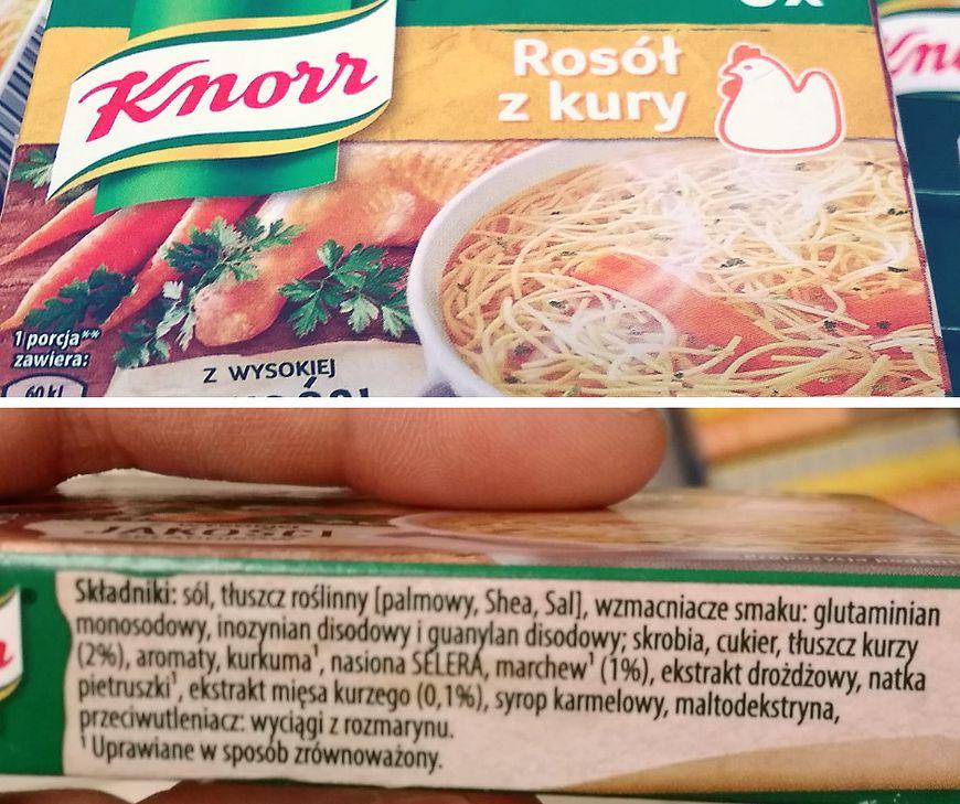 Skład kostki Rosół z Kury Knorr
