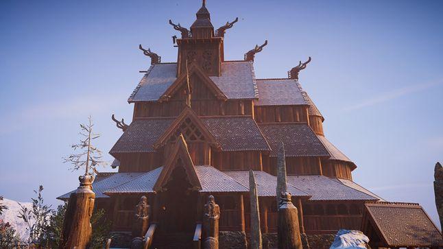 Typowa świątynia typu stavkirke