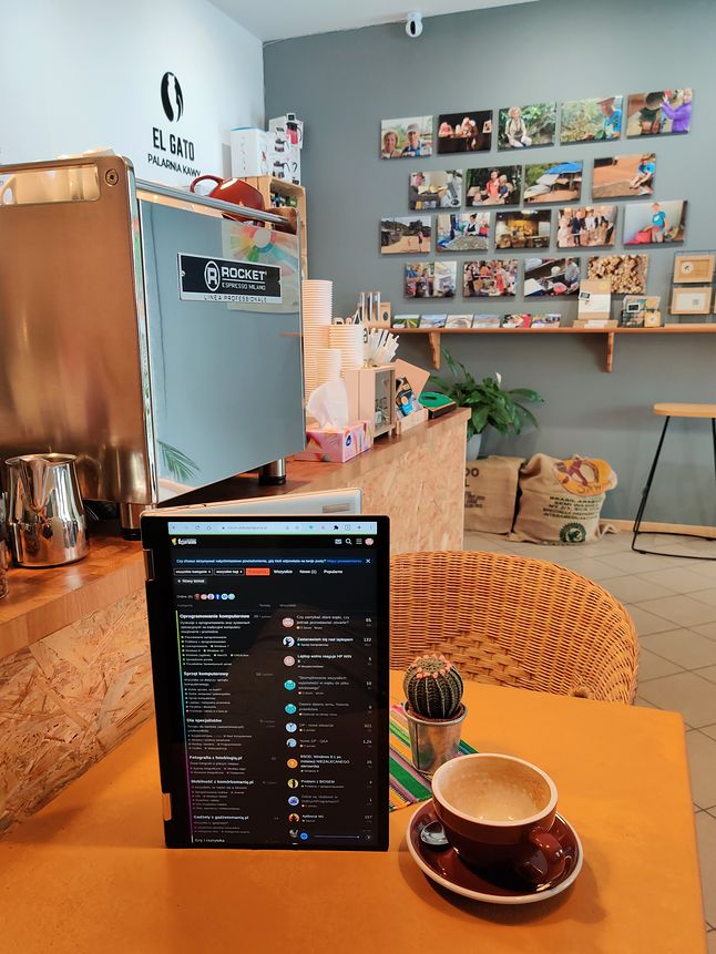 Tak konsumowane treści, wchodzą najlepiej ... kawa również :)