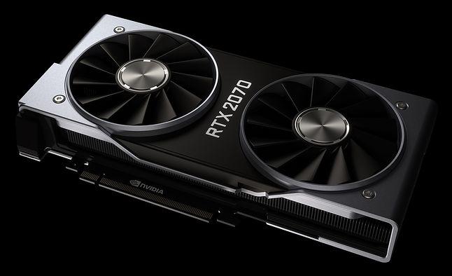 GeForce'y serii RTX 20 nie okazały się takim hitem, jak chciałaby tego Nvidia. Sprzedają się słabo. Źródło: Materiały prasowe Nvidia