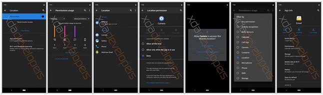Pierwsze zrzuty ekranu ciemnego trybu w Androidzie Q, źródło: XDA Developers.