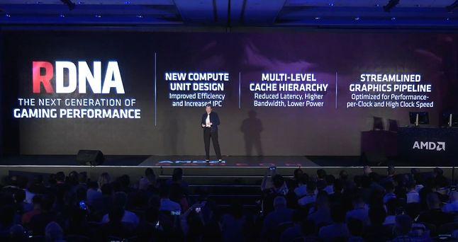 Lisa Su zapowiada mikroarchitekturę RDNA / Fot. YouTube (AMD)