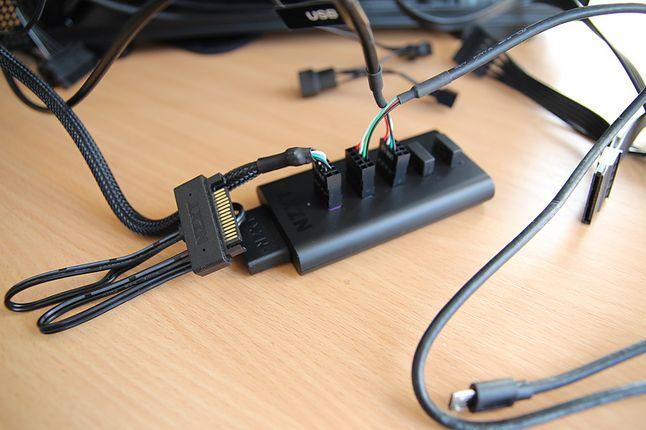Hub USB od NZXT w tym przypadku okazał się nieocenioną pomocą.