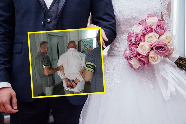 Skandal na weselu pod Łodzią. Ojciec panny młodej zatrzymany