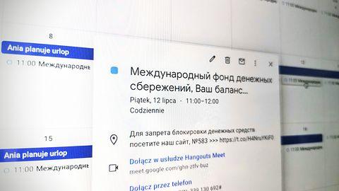 Oszustwo w kalendarzu Google. Scamerzy z Rosji chcą mój numer karty kredytowej