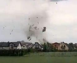 Kaniów. Przerażające nagranie. Tak trąba powietrzna zrywała dachy (wideo)