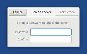 Ustawianie nowego hasła przed pierwszym zablokowaniem ekranu.
