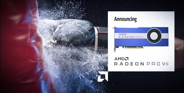 Radeon Pro VII głównie przyda się w obróbce obrazu w 8K, jak i tworzeniu efektów wizualnych oraz post-processingu, fot. AMD