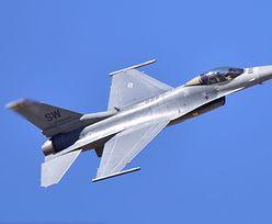 Lecący F-16 zgubił element uzbrojenia. Mieszkańcy Lubonia wstrzymali oddech