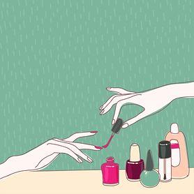 Malowanie paznokci w ciąży
