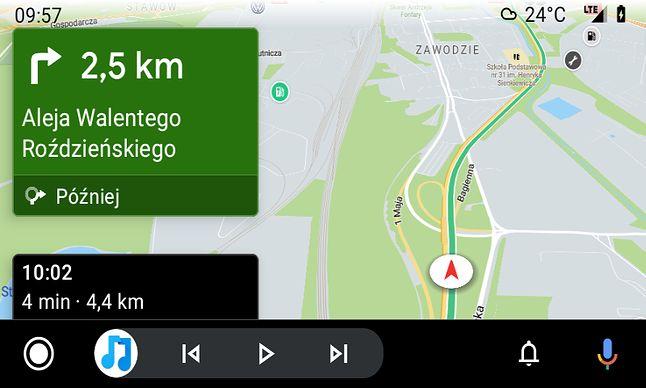 Yanosik w Android Auto