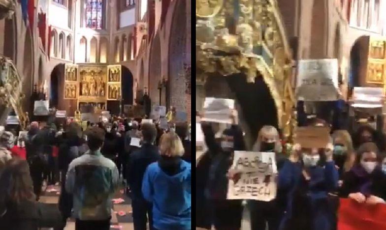 Gorąco w kościele. Zwolennicy i przeciwnicy aborcji stanęli naprzeciw. Nagranie