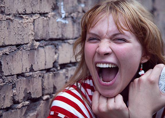 Wybuch gniewu u kobiety
