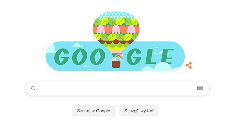 Pierwszy dzień wiosny w Google Doodle - kartka z kalendarza